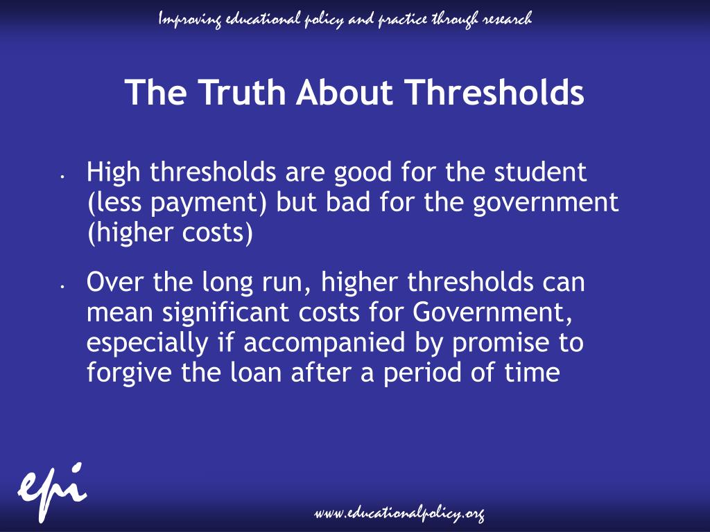 The Truth About Thresholds
