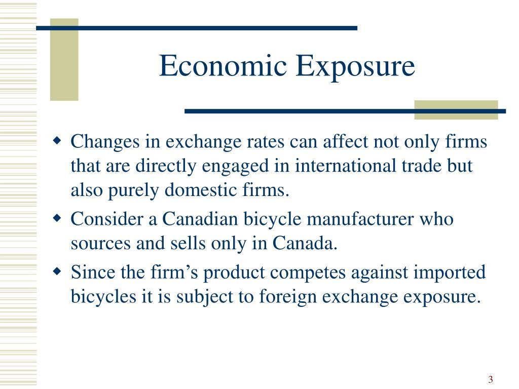 Economic Exposure