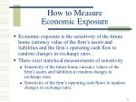 how to measure economic exposure