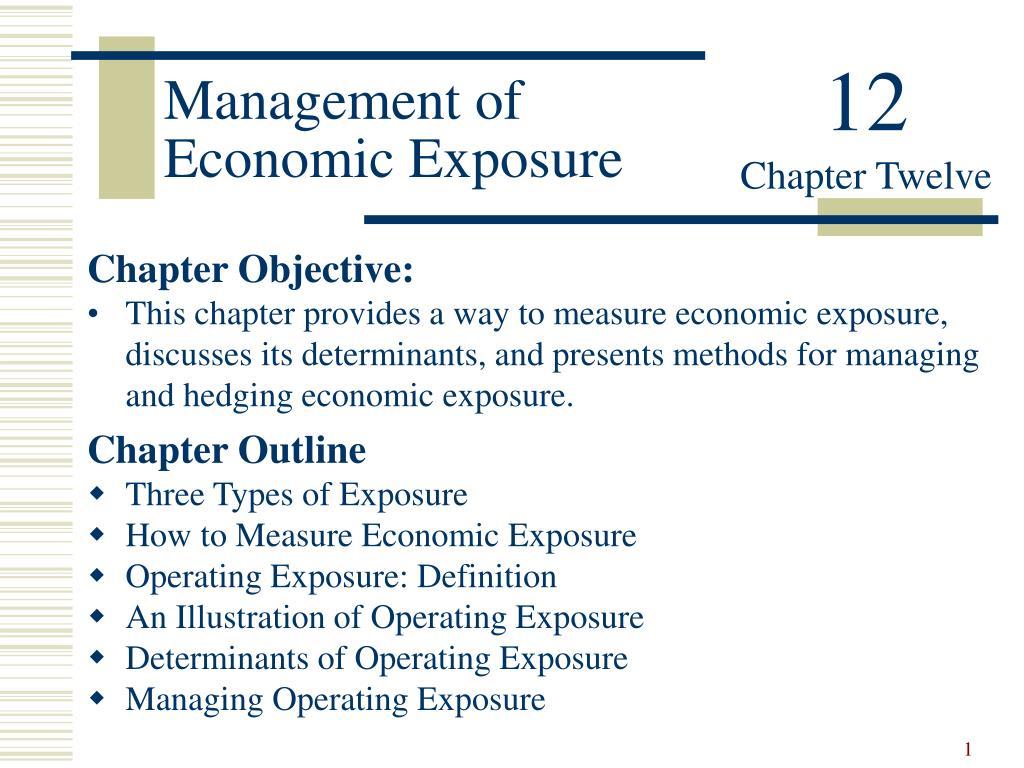 management of economic exposure