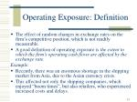 operating exposure definition
