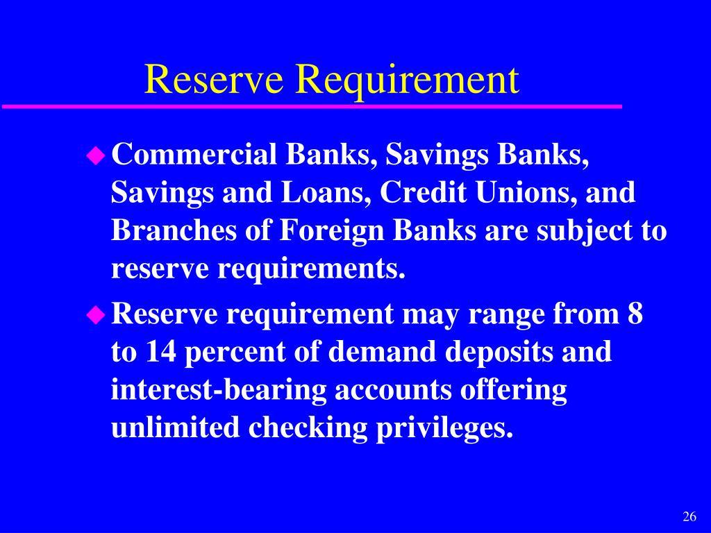 Reserve Requirement