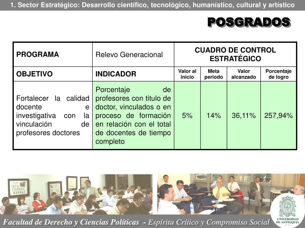 1. Sector Estratégico: Desarrollo científico, tecnológico, humanístico, cultural y artístico