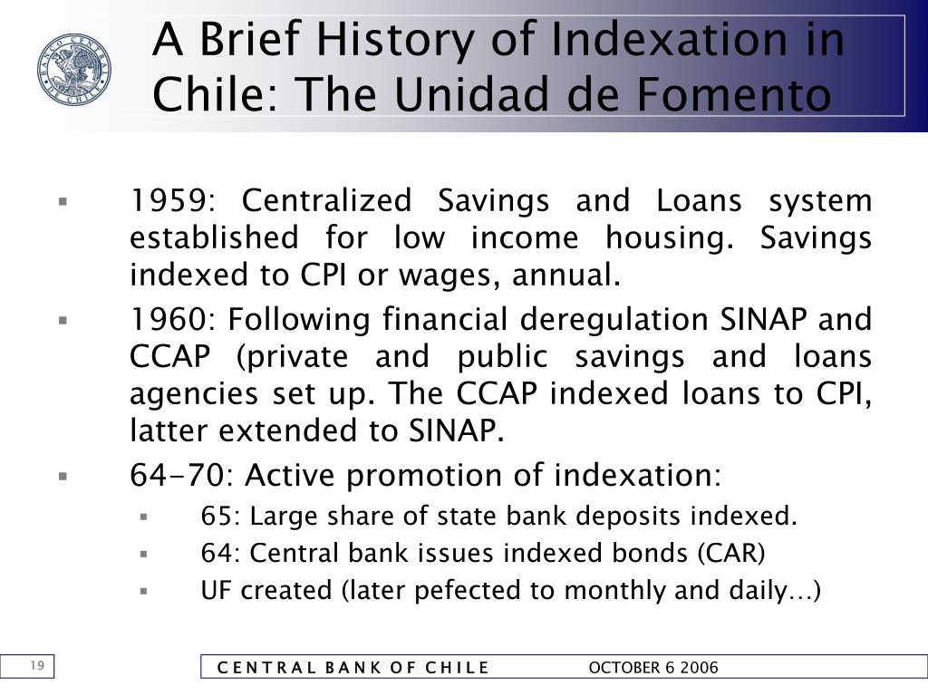 A Brief History of Indexation in Chile: The Unidad de Fomento