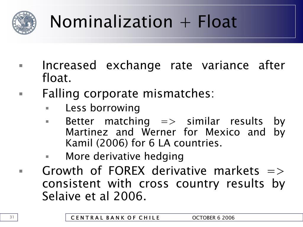 Nominalization + Float