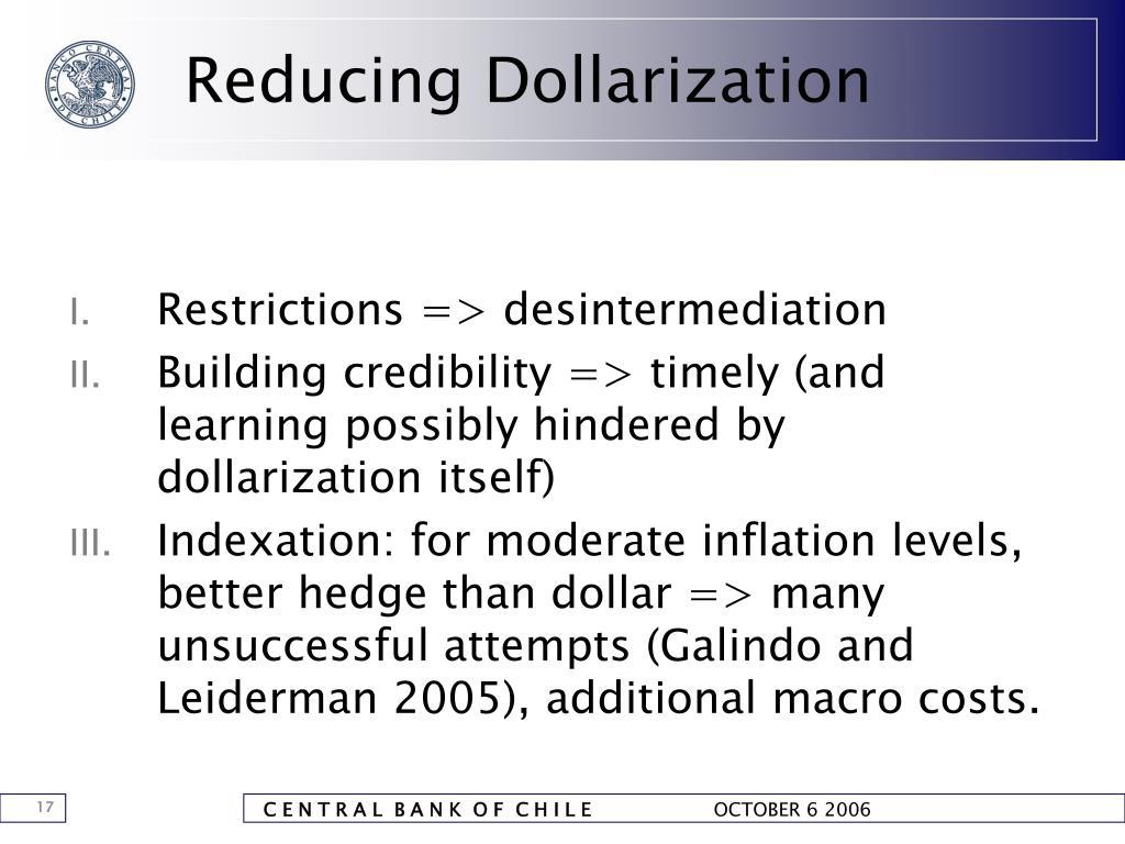 Reducing Dollarization