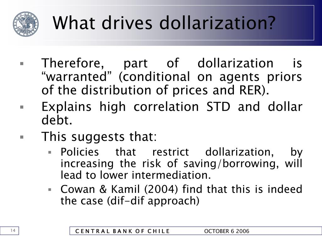 What drives dollarization?