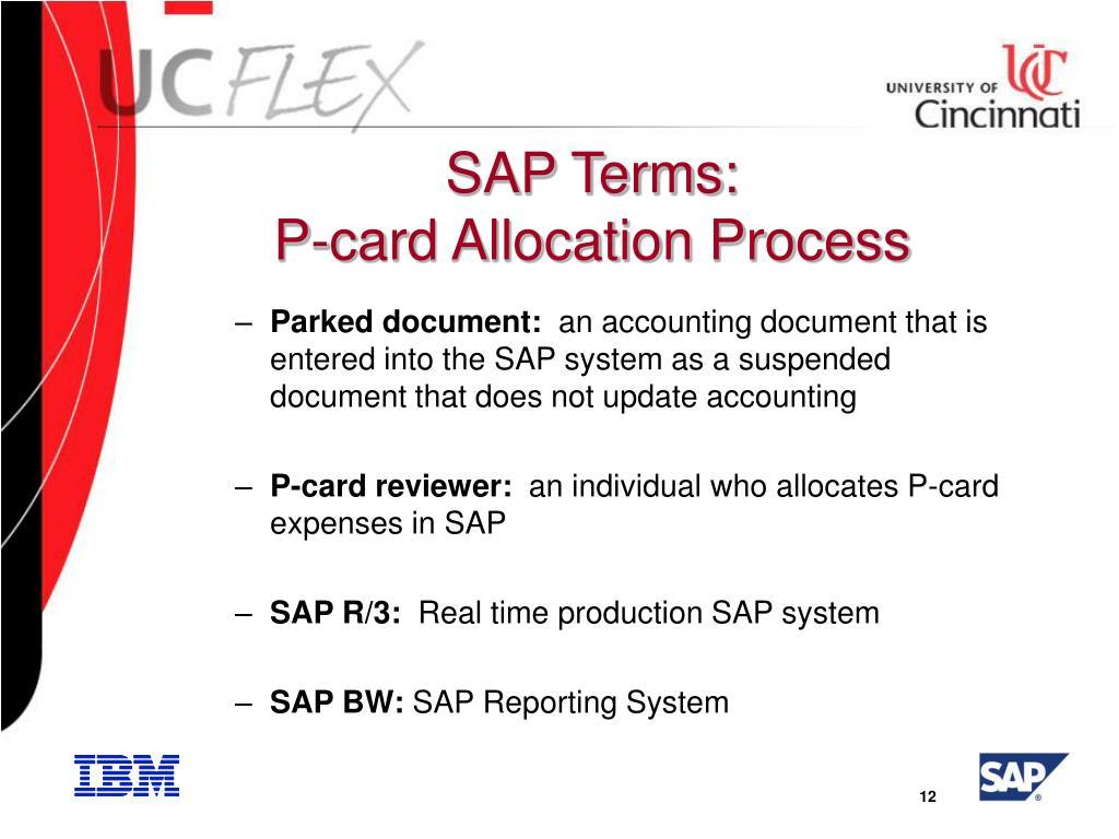SAP Terms: