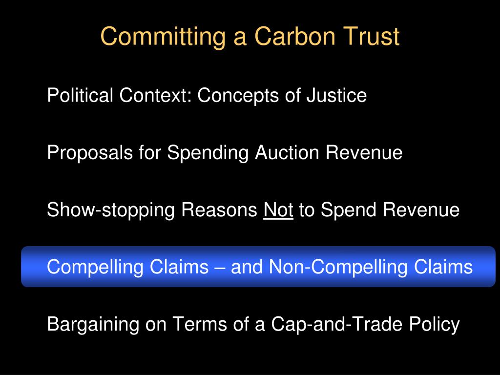 Committing a Carbon Trust