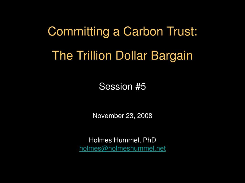 Committing a Carbon Trust: