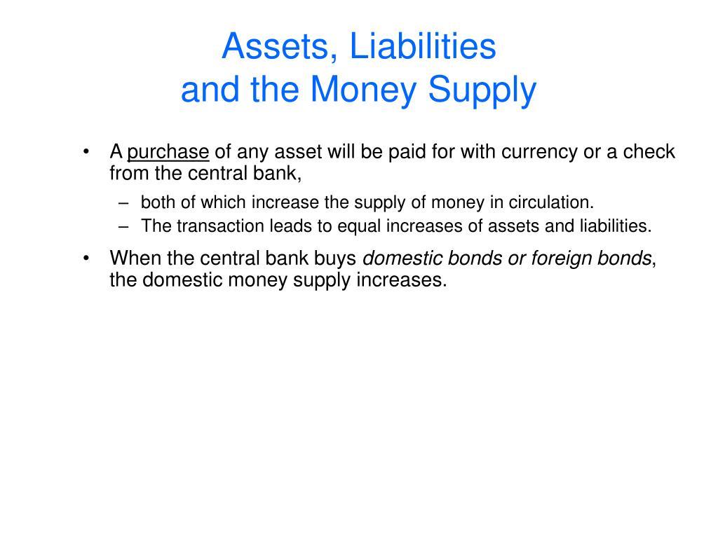 Assets, Liabilities