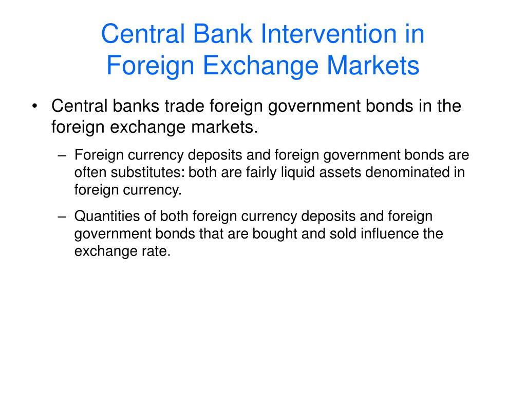 Central Bank Intervention in