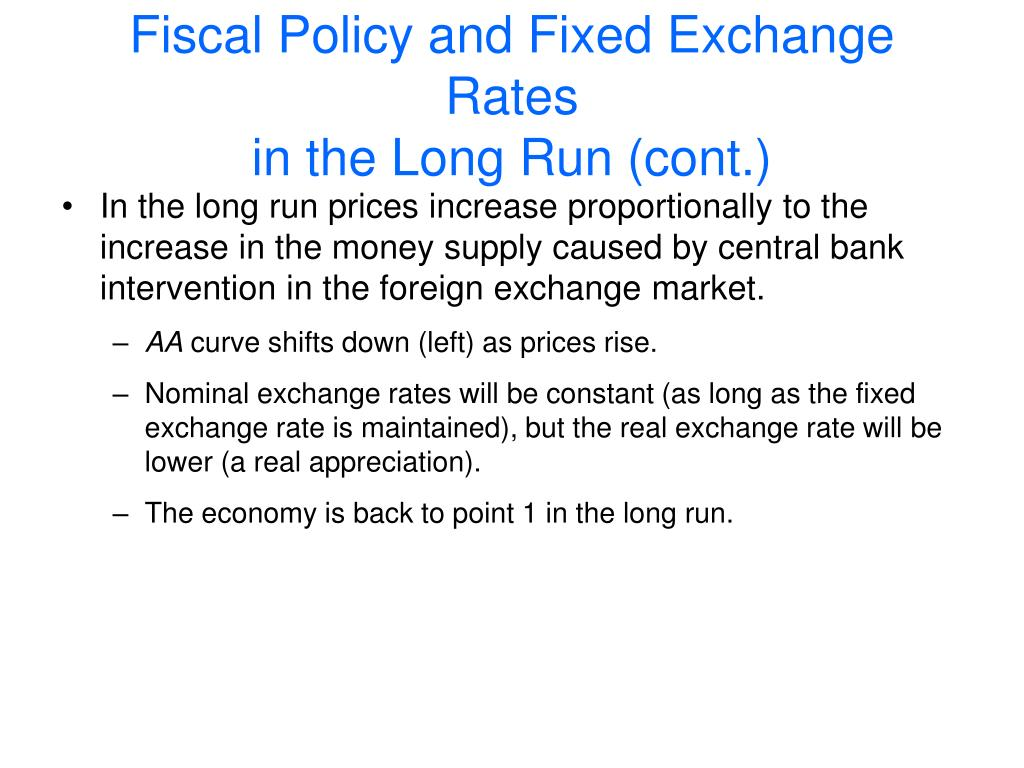 Fiscal Policy and Fixed Exchange Rates