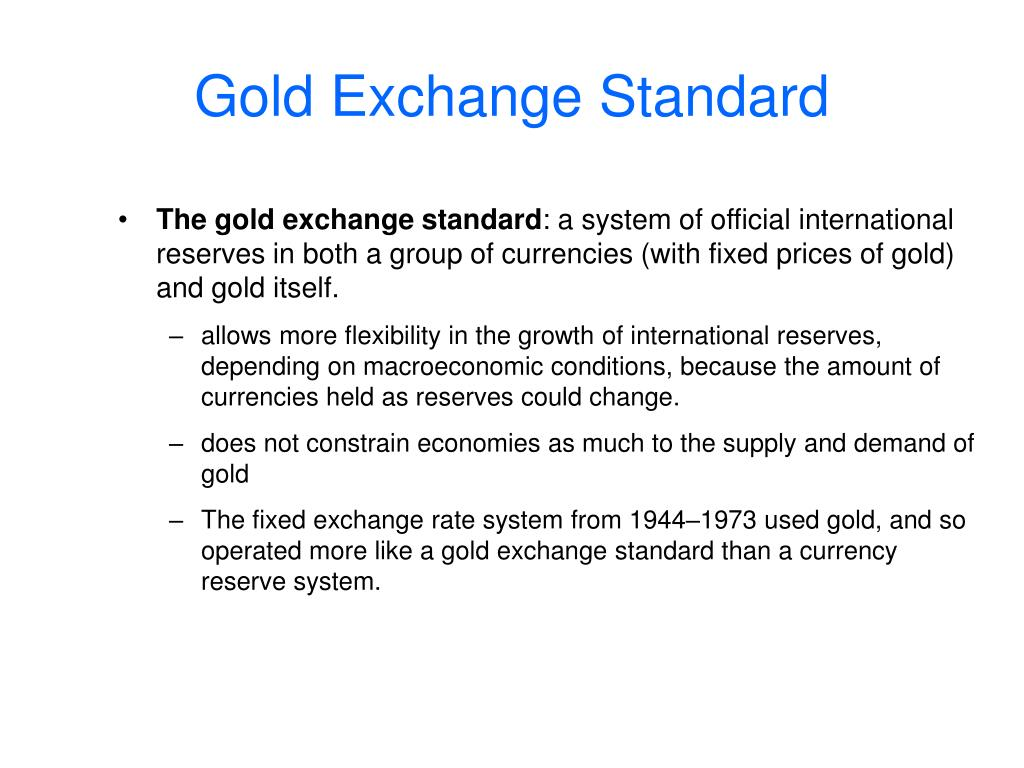 Gold Exchange Standard
