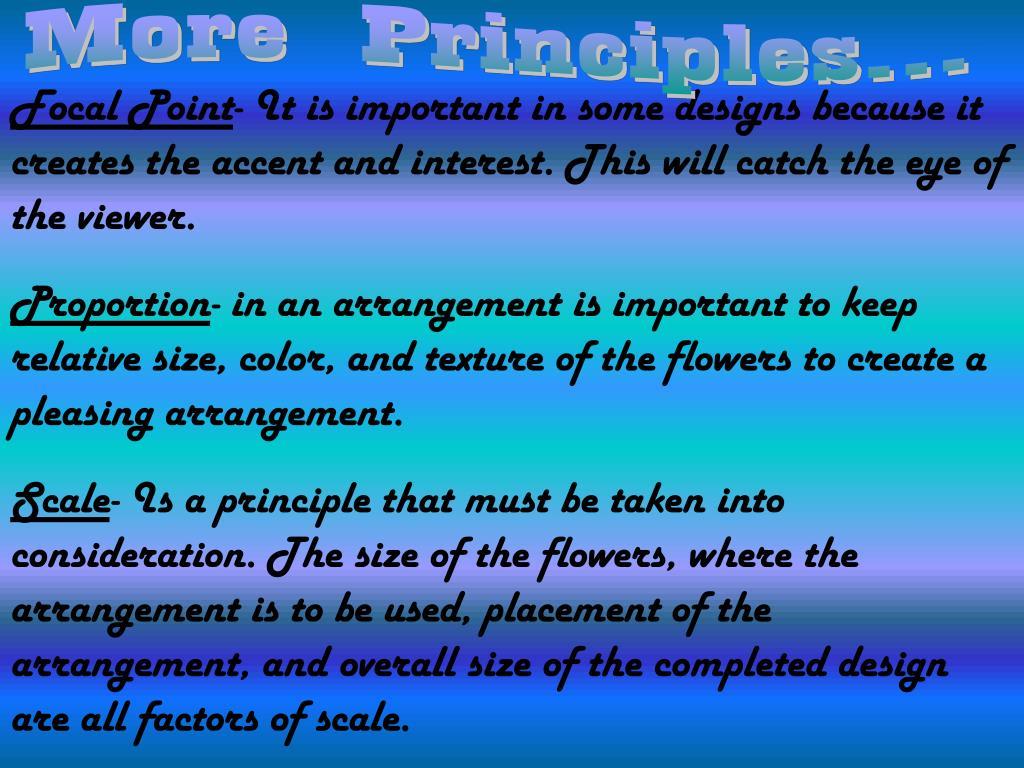 More Principles...