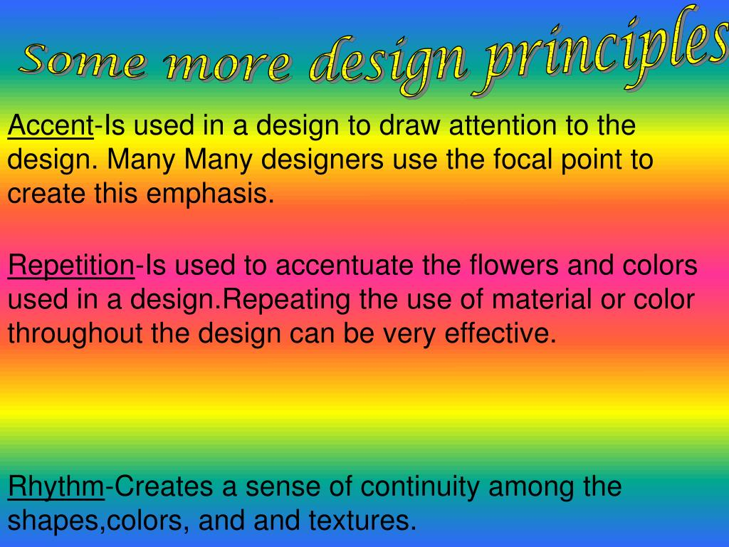 Some more design principles