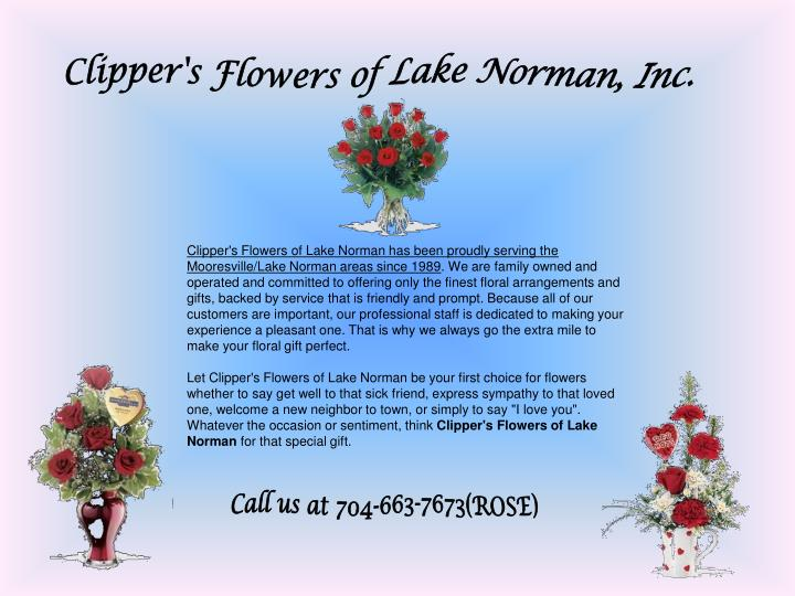 Clipper's Flowers of Lake Norman, Inc.