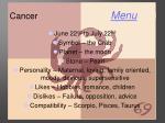 cancer menu