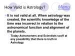 how valid is astrology menu