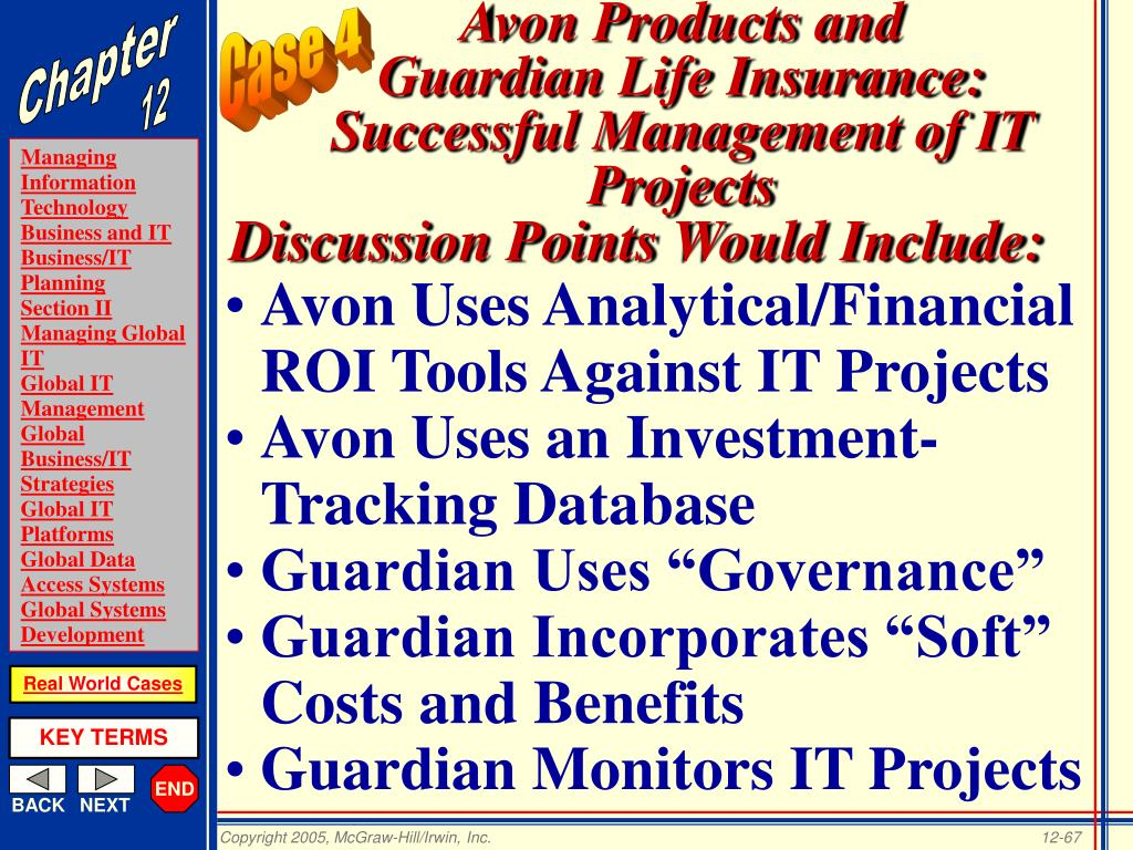 Avon Uses Analytical/Financial ROI Tools Against IT Projects