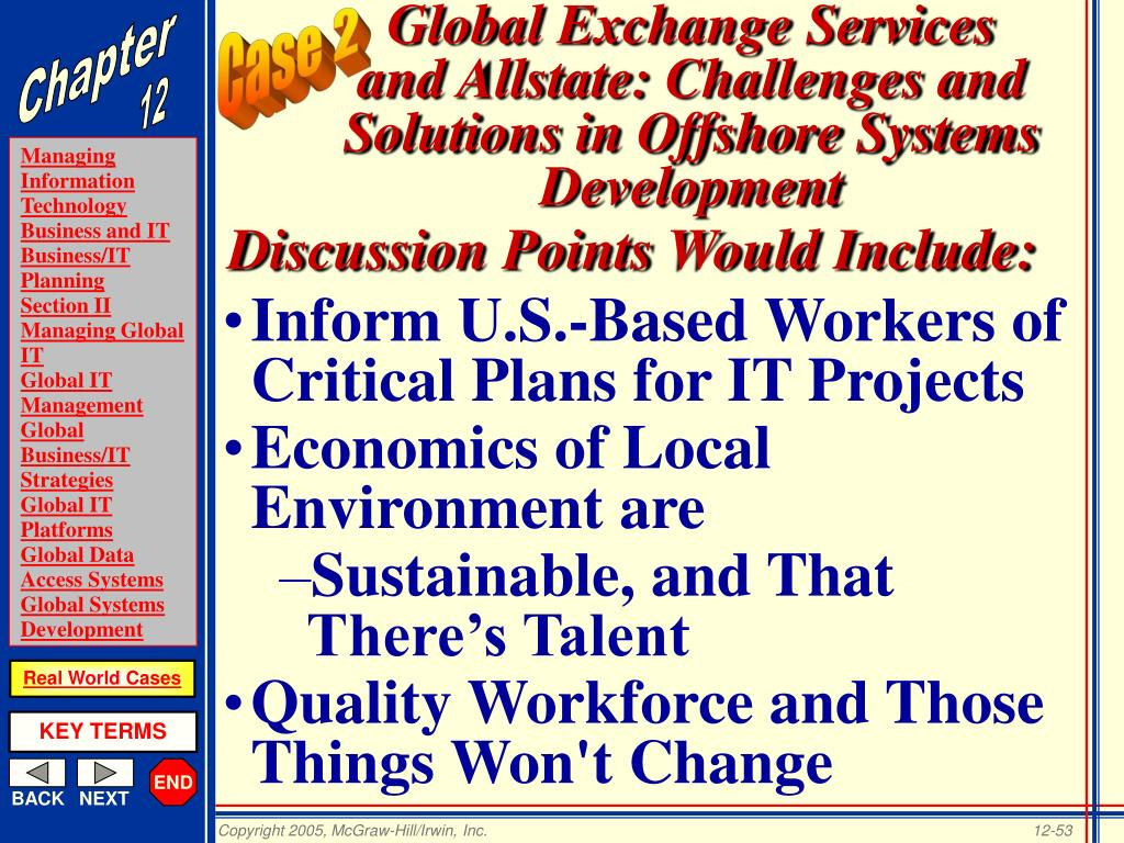 Inform U.S.-Based Workers of Critical Plans for IT Projects