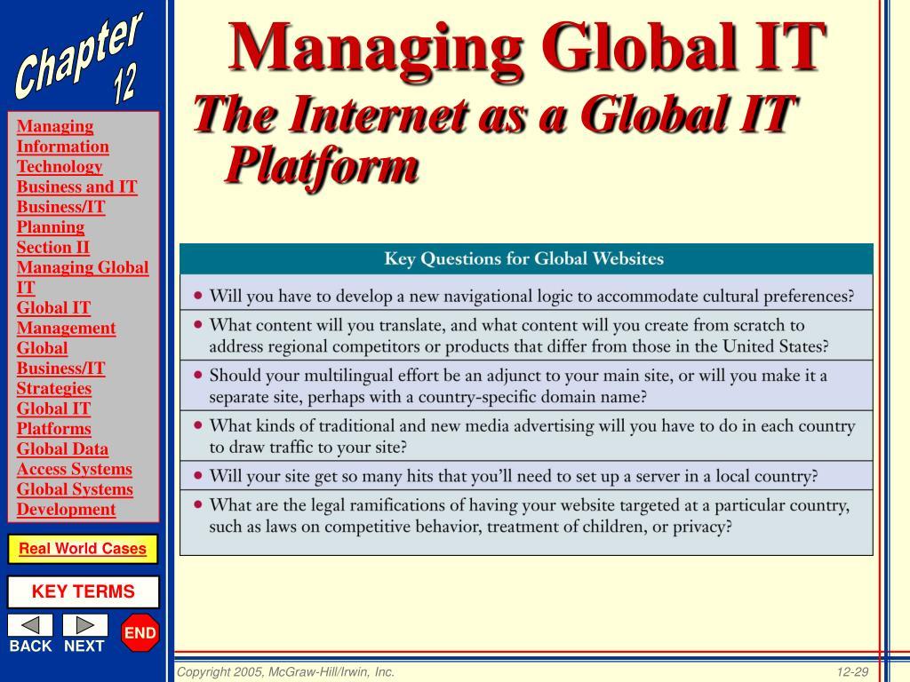 Managing Global IT