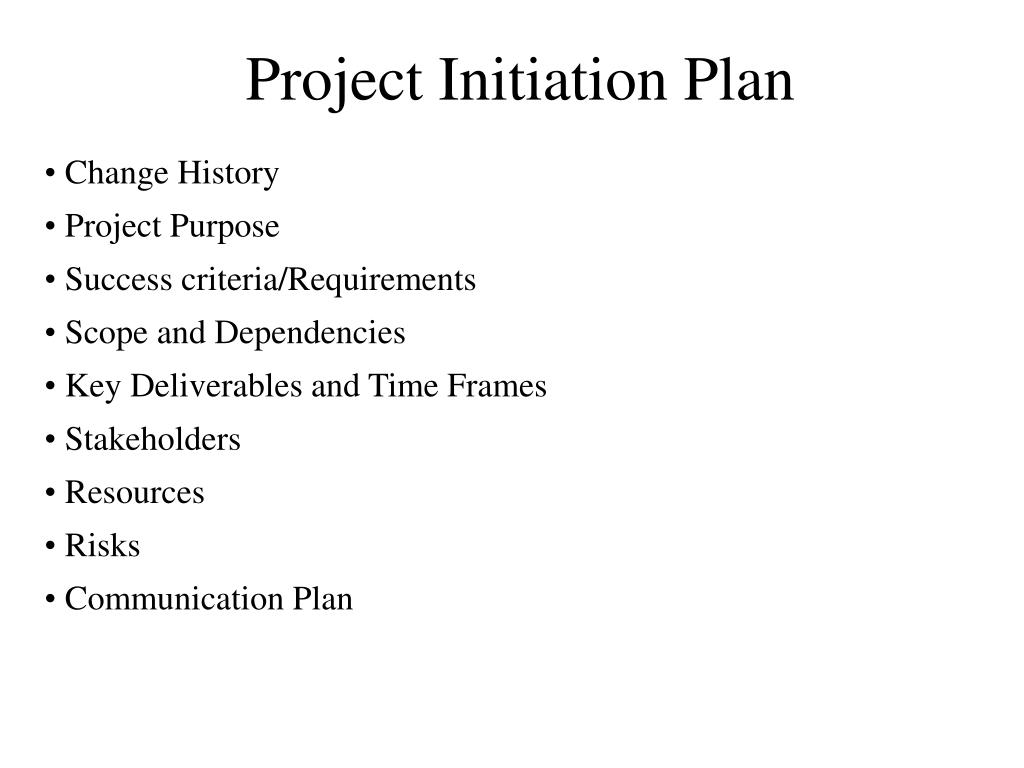 Project Initiation Plan