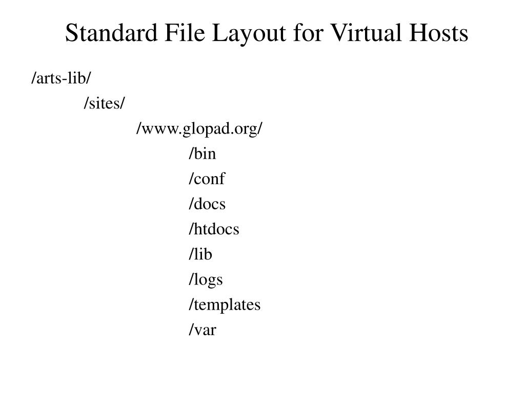 Standard File Layout for Virtual Hosts