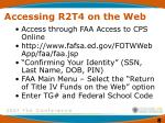 accessing r2t4 on the web
