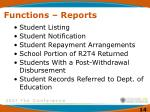 functions reports