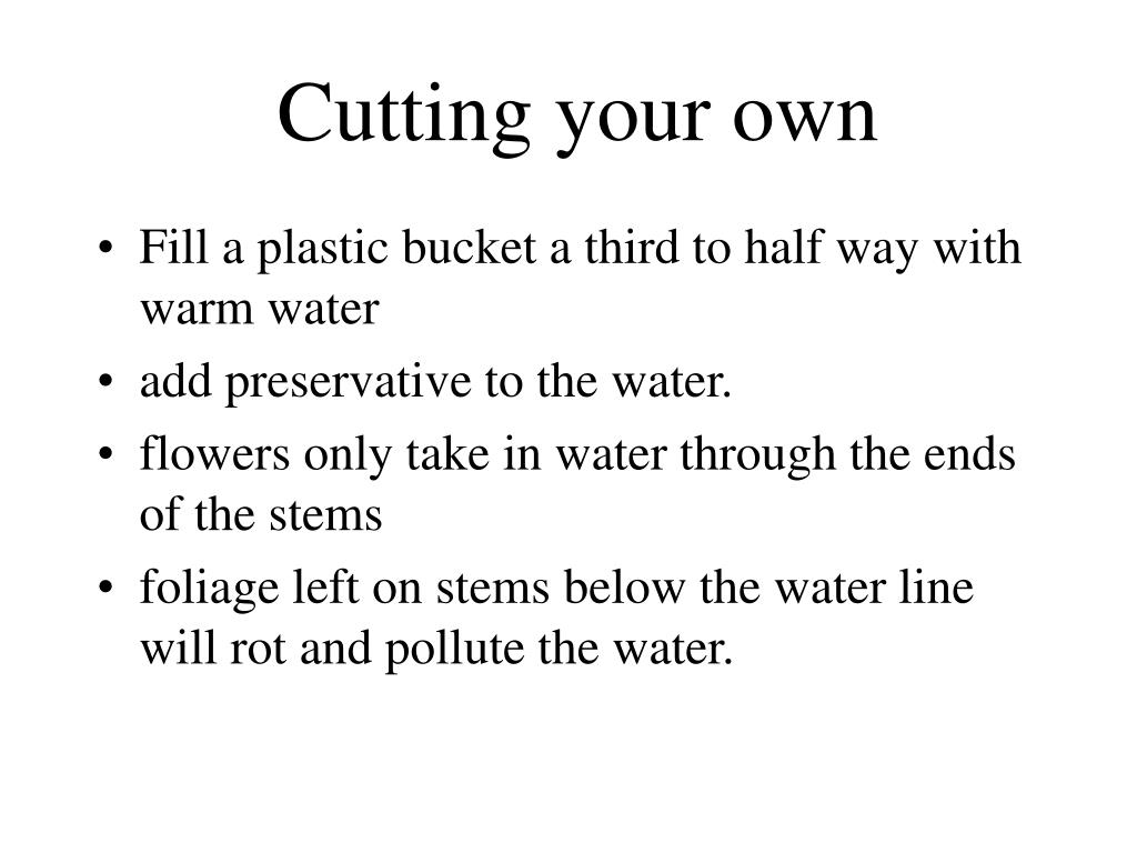 Cutting your own