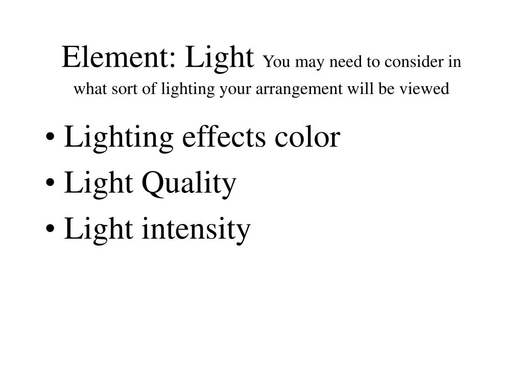 Element: Light