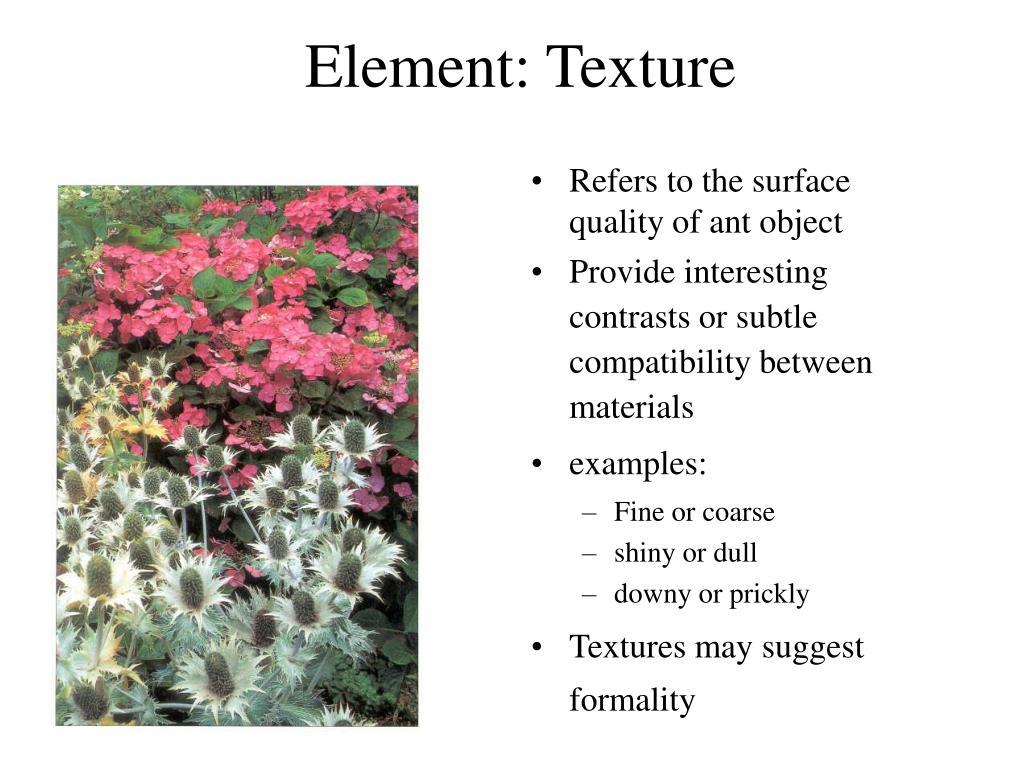 Element: Texture