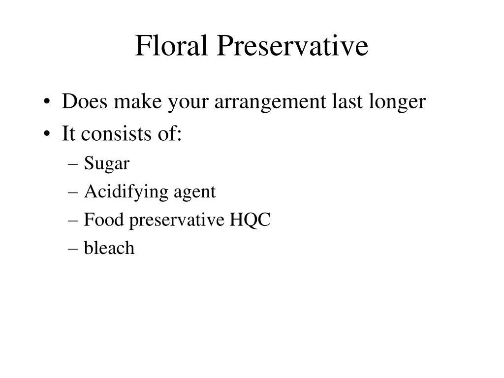 Floral Preservative