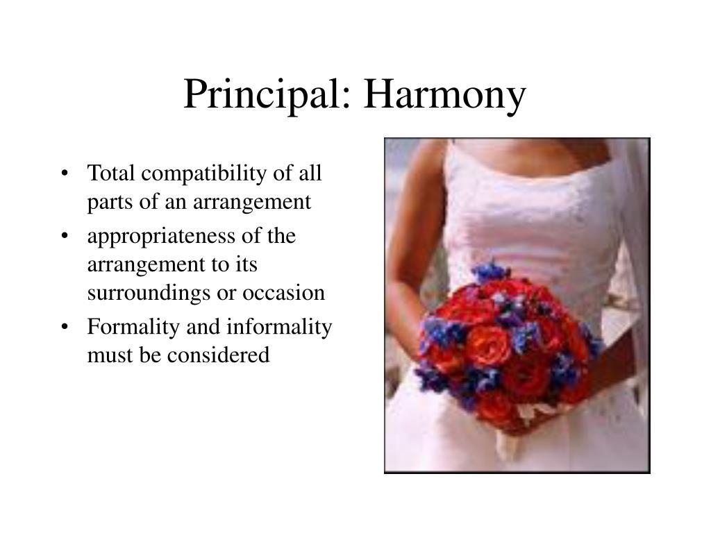 Principal: Harmony