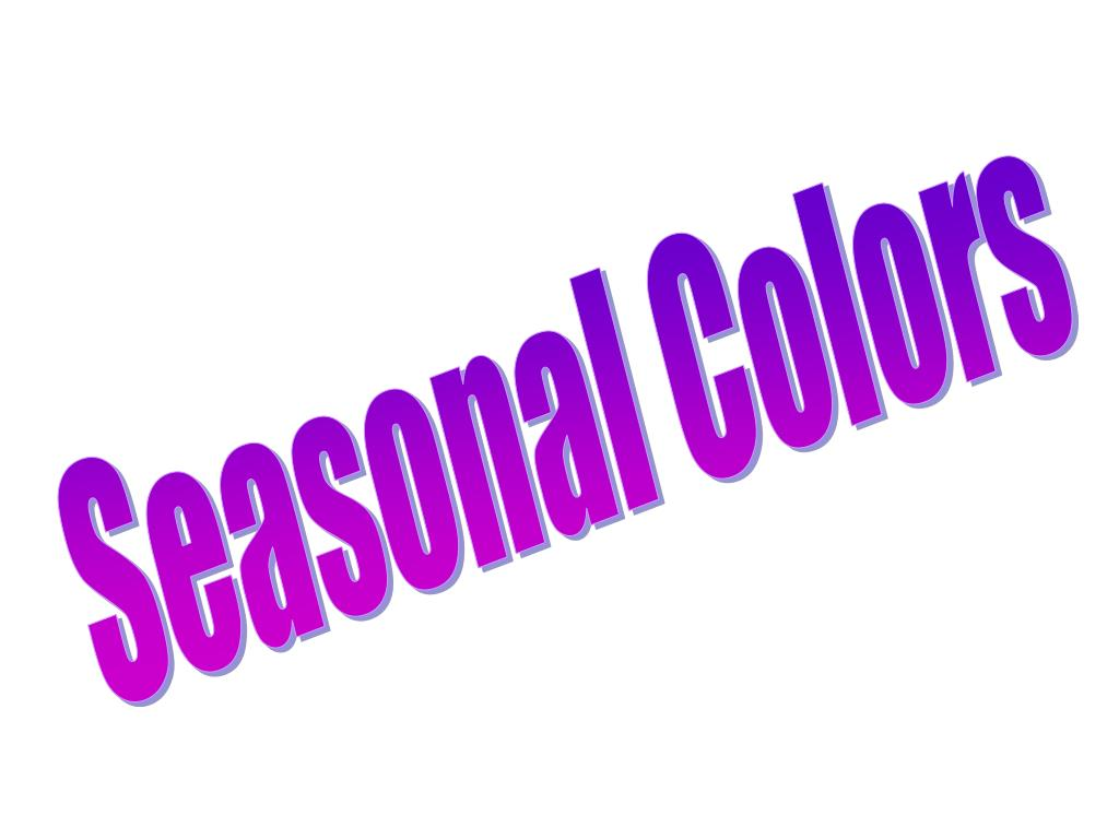 Seasonal Colors