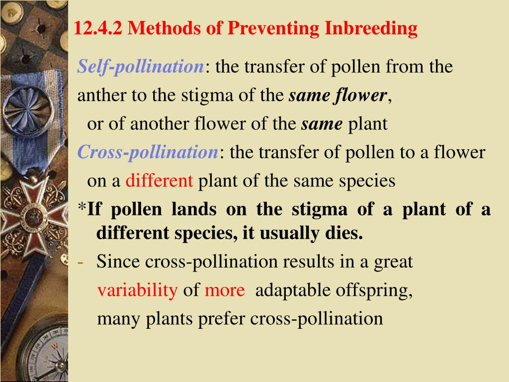 12.4.2 Methods of Preventing Inbreeding