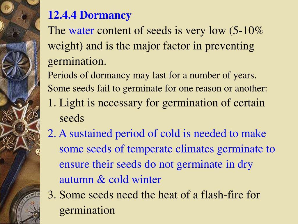 12.4.4 Dormancy