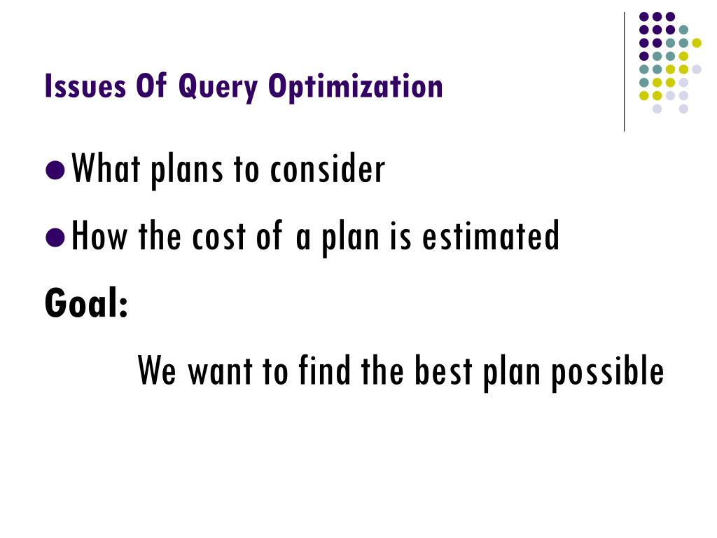 query optimization Caution because the sql server query optimizer typically selects the best execution plan for a query, we recommend only using hints as a last resort for experienced developers and database.