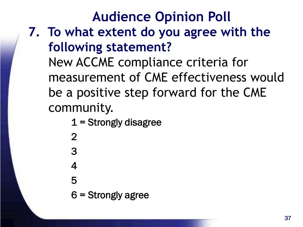 Audience Opinion Poll