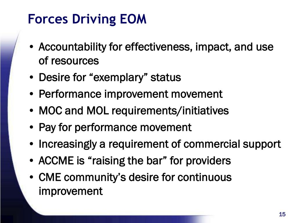 Forces Driving EOM