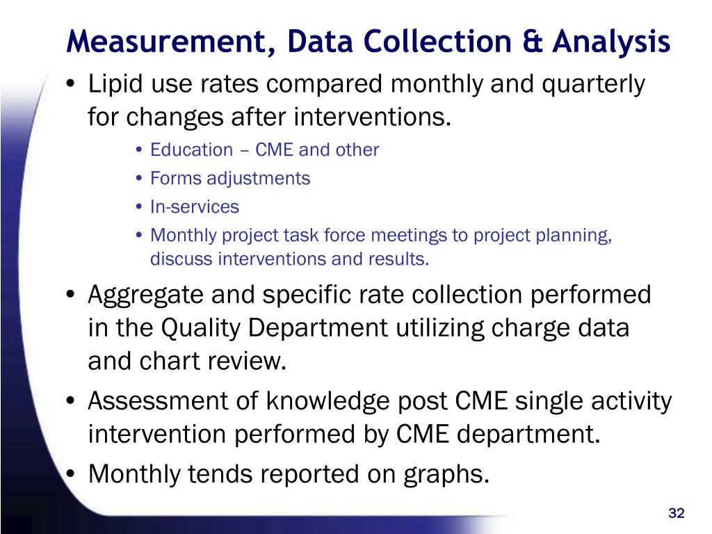 Measurement, Data Collection & Analysis