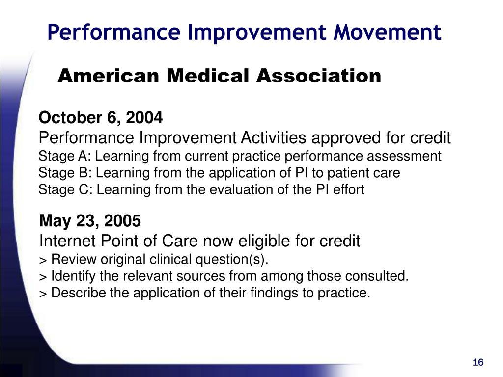 Performance Improvement Movement
