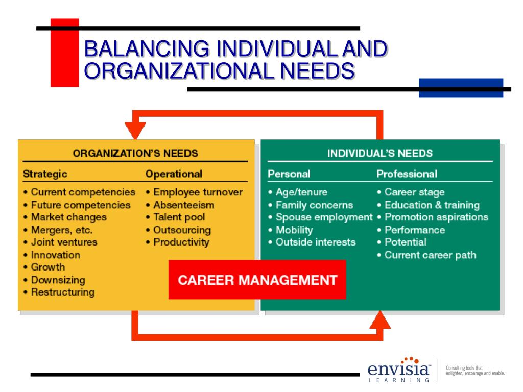 BALANCING INDIVIDUAL AND ORGANIZATIONAL NEEDS