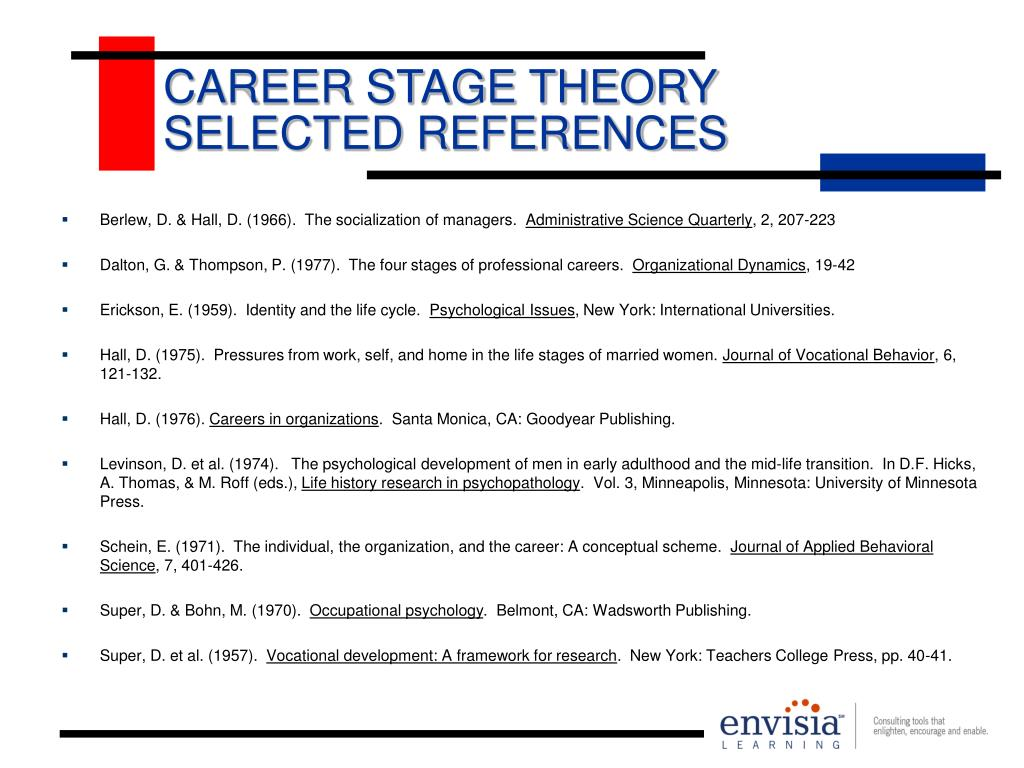 CAREER STAGE THEORY