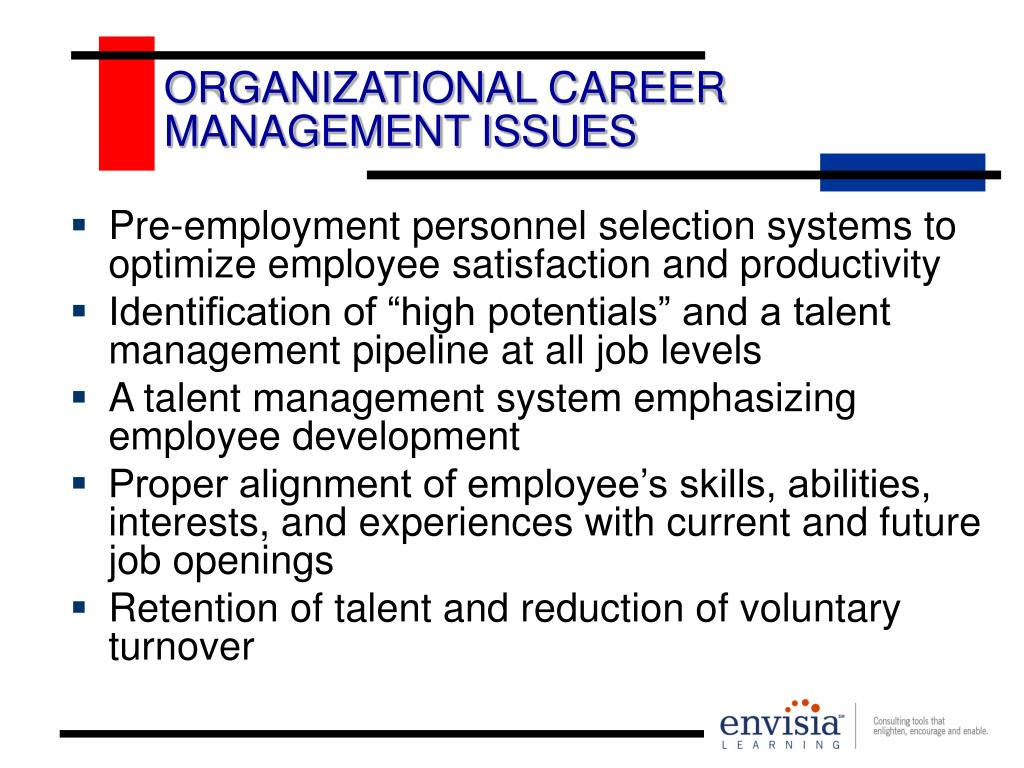 ORGANIZATIONAL CAREER MANAGEMENT ISSUES
