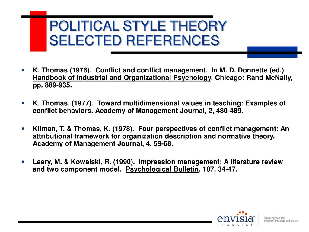 POLITICAL STYLE THEORY