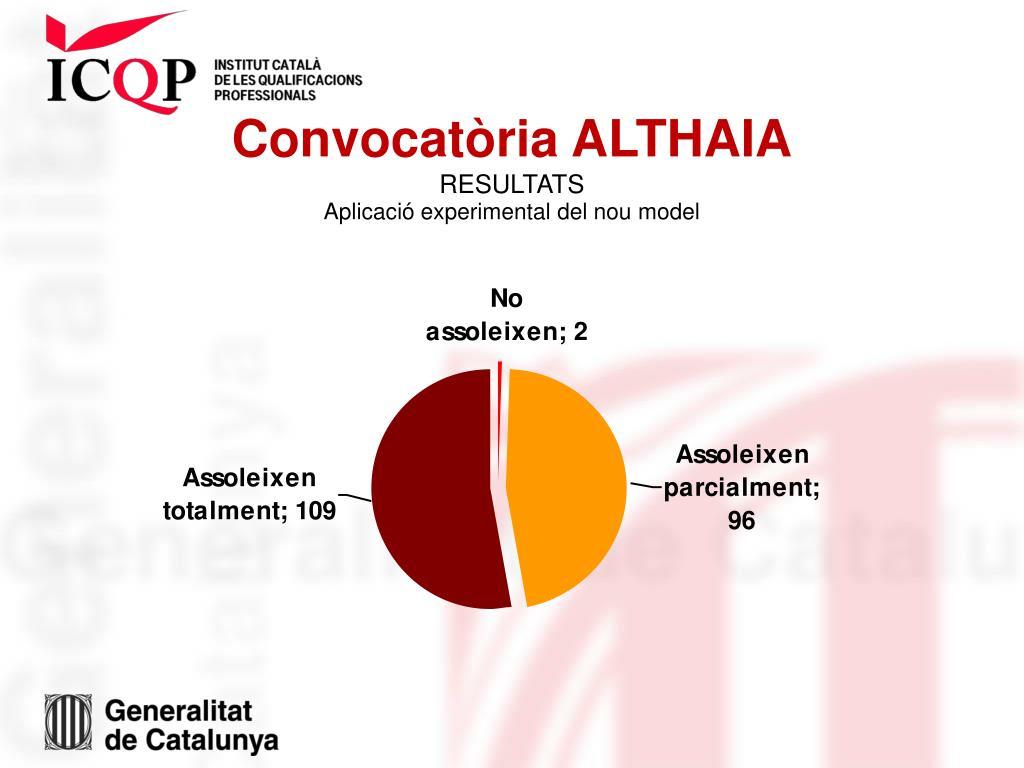 Convocatòria ALTHAIA