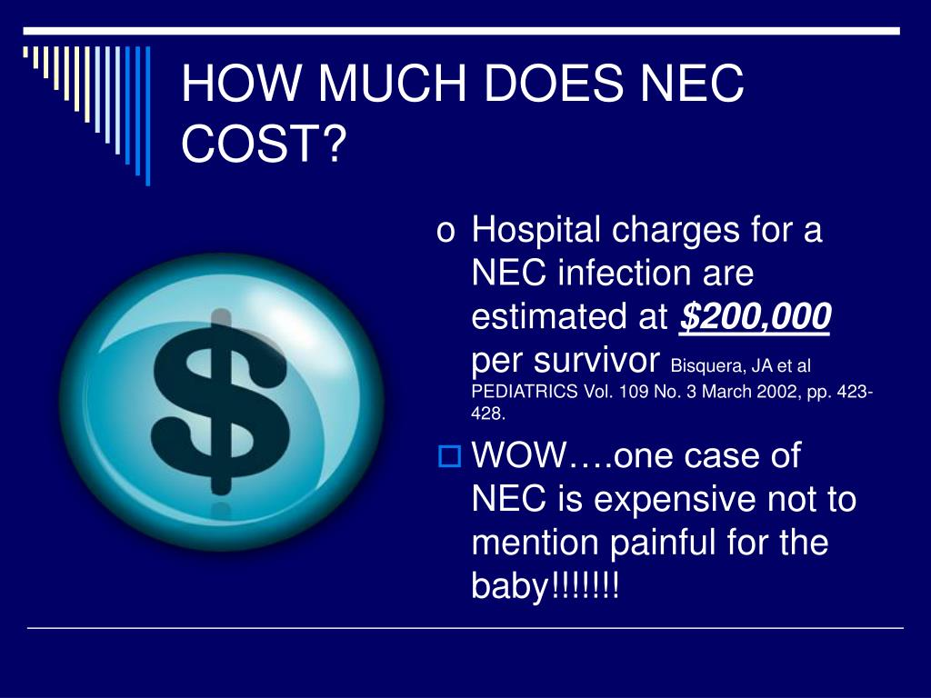 HOW MUCH DOES NEC COST?