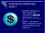 how much does nec cost